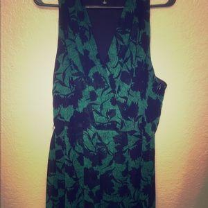 Emerald green and black dress