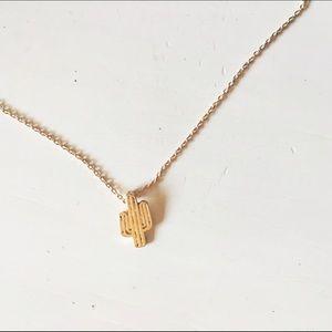 Mini Gold Cactus Necklace