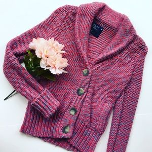 American Eagle Outfitters Sweaters - Pink Campus Cardi