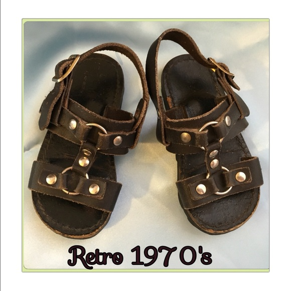 Shoes Retro Vintage 1970 Leather Tire Tread Sandals