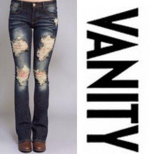 Vanity Denim - 🎉HP🎉Dark Wash Distressed Jeans ⭐️