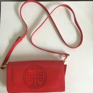 Tory Burch Handbags - Tory Burch Logo Perf Clutch