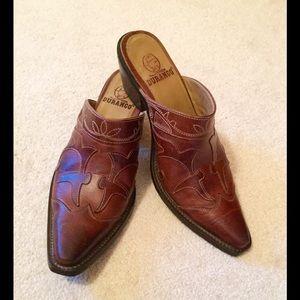 Durango Shoes - Nice Durango leather appliqué mules