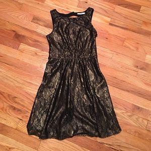 Oasis Dresses & Skirts - Oasis Vintage Gold/Black Dress