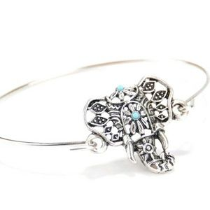 Jewelry - Bohemian Elephant Braclet with accents
