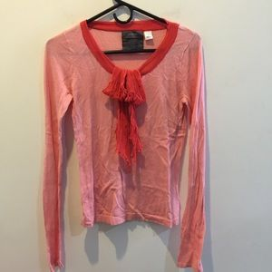 Anthropologie Tops - Guinevere Anthropologie Coral Sweater Blouse
