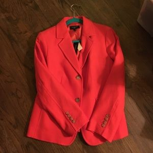 Talbots Jackets & Blazers - Talbots orange textured blazer