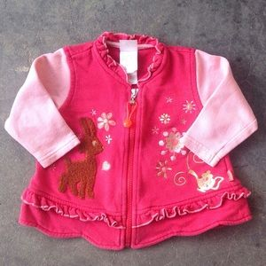Oilily Other - Oilily Pink Deer Jacket - 12-18 Months