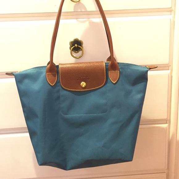48% off Longchamp Handbags - small peacock blue Longchamp from ...