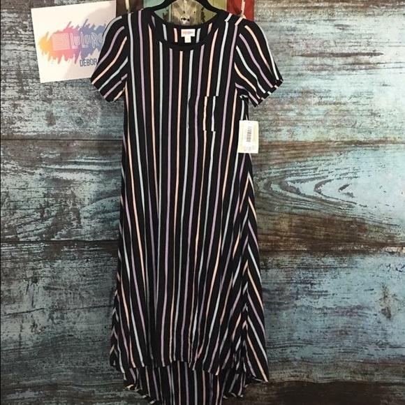 LuLaRoe Dresses | Vertical Stripe Carly | Poshmark