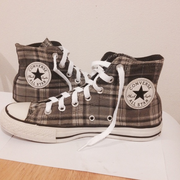 093bcfc311d1 Converse Shoes - Flannel Fabric Converse High Tops