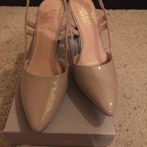 Franco Sarto Nude Color Heels