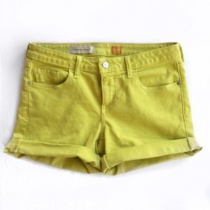 Anthropologie Pants - Anthropologie chartreuse shorts