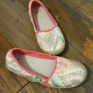 Sanuk Shoes - Sanuk Loafers Jute Flats Rubber Soled Size 7