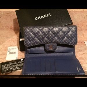 CHANEL Handbags - SALE! Chanel perforated long bifold wallet