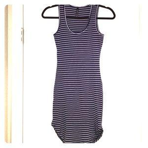 Dresses & Skirts - Navy & White Striped Ribbed Dress
