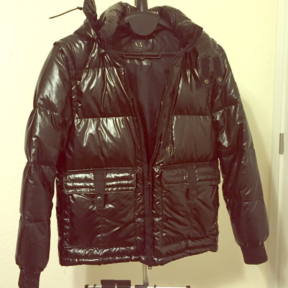 in stock release info on classic fit Armani Exchange 2 in 1 winter jacket fall vest