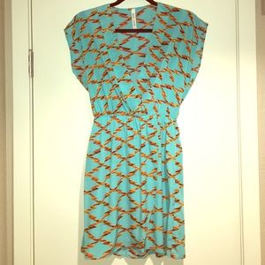 Dresses & Skirts - Teal V-neck Dress. New with tags