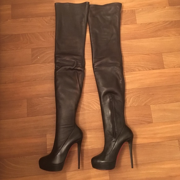 buy popular 3ee08 411de Christian Louboutin thigh high all leather boots