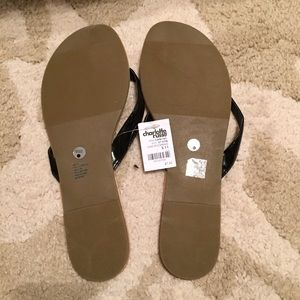 e4a465936 Charlotte Russe Shoes - Charlotte Russe Black Patent Flip Flops