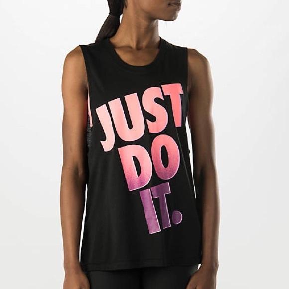 f3d6dcc1449c2 Women s Black Nike Just Do It Muscle Tank. M 57c8ffbec6c795ca1400e5e8