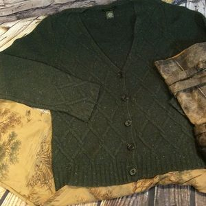 Eddie Bauer Sweaters - 🎉HP🎉SZ LG EDDIE BAUER GREEN CARDIGAN/SWEATER