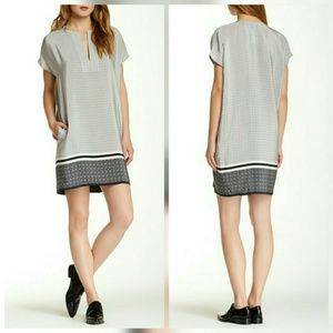 Vince Dresses & Skirts - Vince Silk Trapunto Silk Print Dress