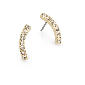 New Pavé Curve Earrings!