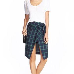 J.O.A Dresses & Skirts - J.O.A Plaid Faux Wrap Skirt