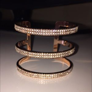 Vince Camuto Rose Gold and Crystal Cuff