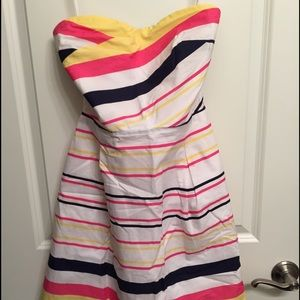 Lilly Pulitzer striped strapless dress