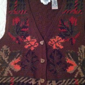 Hand knit Vintage vest