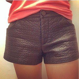 Zara Pants - Zara black faux leather shorts