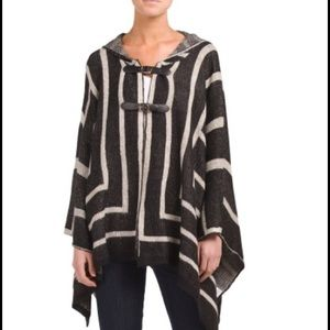 Elan Sweaters - Buckle front poncho