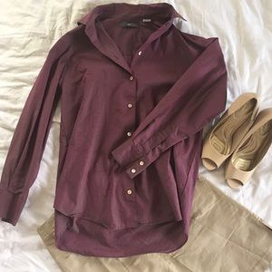 Gap small purple button up