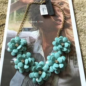J.crew Crystal Floral Necklace, NWT