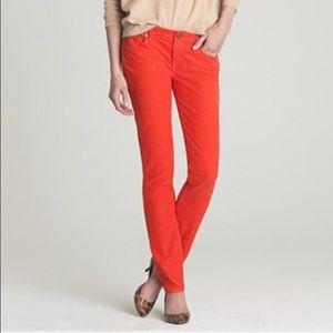 J. Crew Pants - Jcrew orange skinny cords