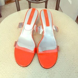 FIONI Clothing Shoes - Fioni Clear/Orange Sandals
