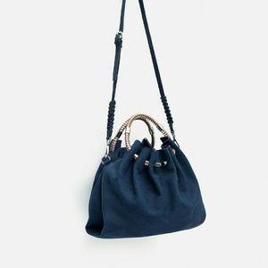 Zara leather bucket bag (4002)