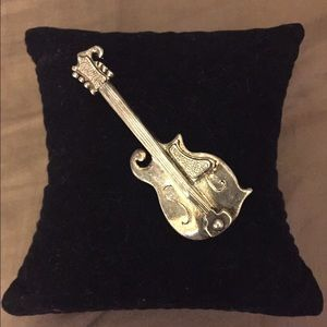 Silver Plated, Vintage Guitar Pin