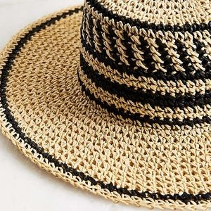 62e318ab291 Urban Outfitters Accessories - Urban Outfitters Geo Straw Packable Boater  Hat
