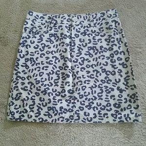 A.P.C. Dresses & Skirts - SALE! A.P.C. Leopard Print Jean Skirt Small