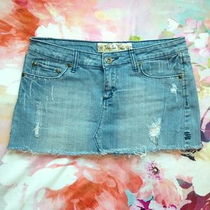 Vanilla Star Dresses & Skirts - 3 for $10 Vanilla Star Distressed Denim Mini Skirt