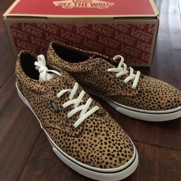 Vans Atwood Low Black with cheetah