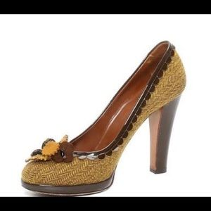 Moschino Cheap and Chic Tweed Heels, Size 8.5