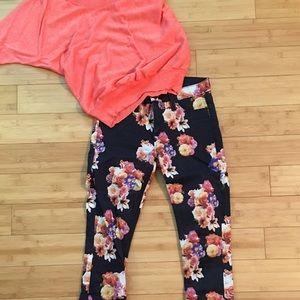 Hudson Nico Super Skinny MidRise Floral Jeans