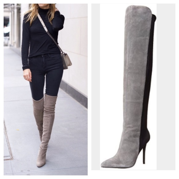 e89d3659c97b Charles David suede leather over the knee boot 6.5