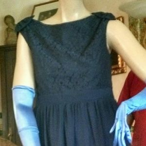 Little Mistress Dresses & Skirts - NWT Navy Floral Lace Cocktail Dress US SIZE 8