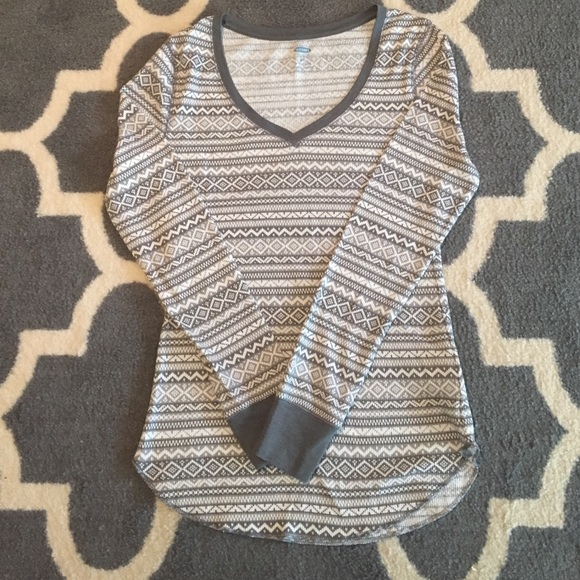 70% off Old Navy Tops - Old Navy Fair Isle Thermal Shirt NWOT from ...