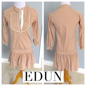 EDUN Dresses & Skirts - EDUN Drop Waist, 100% Cotton Prairie Dress